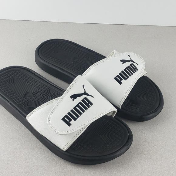 puma slippers black